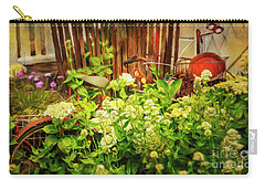 Carry-all Pouch featuring the photograph Lost Bicycle Of Flowers by Craig J Satterlee