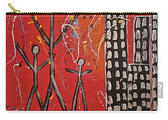 Carry-all Pouch featuring the painting Lost Cities 13-001 by Mario Perron
