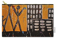Carry-all Pouch featuring the painting Lost Cities 13-002 by Mario Perron