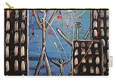 Carry-all Pouch featuring the painting Lost Cities 13-003 by Mario Perron