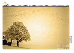 Carry-all Pouch featuring the photograph Lost In Snow - Winter In Switzerland by Susanne Van Hulst
