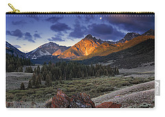 Lost River Mountains Moon Carry-all Pouch by Leland D Howard