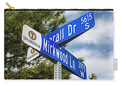 Carry-all Pouch featuring the photograph Lotr Mirkwood Street Signs by Gary Whitton