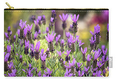 Carry-all Pouch featuring the photograph Lots Of Lavender  by Saija Lehtonen