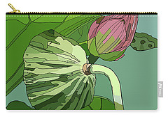 Lotus And Bud Carry-all Pouch