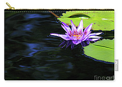 Lotus And Dark Water Refection Carry-all Pouch