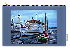 Carry-all Pouch featuring the photograph Lotus And The Dinghies by Thom Zehrfeld
