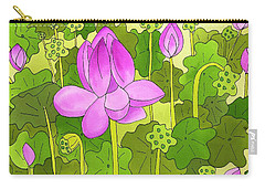 Lotus And Waterlilies Carry-all Pouch
