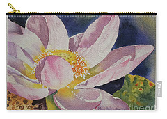 Lotus Bloom Carry-all Pouch by Mary Haley-Rocks