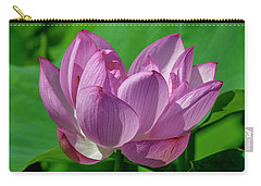 Carry-all Pouch featuring the photograph Lotus Beauty--buxom Beauty I Dl0089 by Gerry Gantt