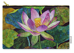 Lotus Bloom Carry-all Pouch by Hailey E Herrera