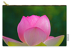 Carry-all Pouch featuring the photograph Lotus Blossom 842010 by Byron Varvarigos