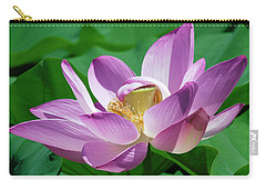 Carry-all Pouch featuring the photograph Lotus--center Of Being--protective Covering II Dl0088 by Gerry Gantt