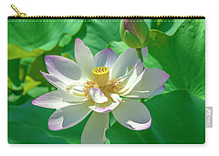 Carry-all Pouch featuring the photograph Lotus--fading I Dl0079 by Gerry Gantt