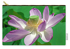 Carry-all Pouch featuring the photograph Lotus--fading II Dl0080 by Gerry Gantt