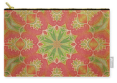Carry-all Pouch featuring the drawing Lotus Garden by Mo T