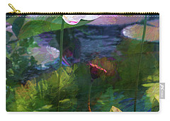 Carry-all Pouch featuring the photograph Lotus by John Rivera