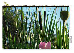 Carry-all Pouch featuring the photograph Lotus Landscape 2 by Buddy Scott