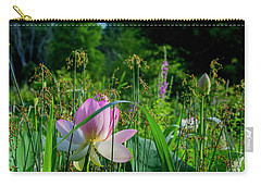 Carry-all Pouch featuring the photograph Lotus Landscape 3 by Buddy Scott