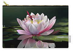 Lotus Meditation Carry-all Pouch by Rosa Cobos