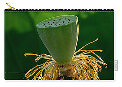 Carry-all Pouch featuring the photograph Lotus Pod 2017 3 by Buddy Scott