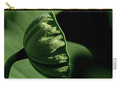 Carry-all Pouch featuring the photograph Lotus Pod 3 by Buddy Scott