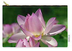 Carry-all Pouch featuring the photograph Lotus--sisters I Dl0082 by Gerry Gantt