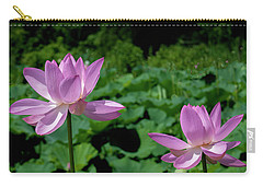 Carry-all Pouch featuring the photograph Lotus--sisters II Dl0083 by Gerry Gantt