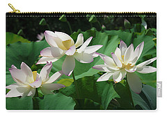 Carry-all Pouch featuring the photograph Lotus--sisters Iv Dl0085 by Gerry Gantt