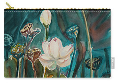 Carry-all Pouch featuring the painting Lotus Study I by Xueling Zou