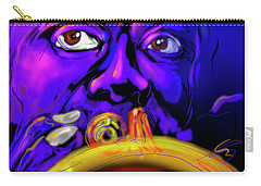 Carry-all Pouch featuring the painting Louie by DC Langer