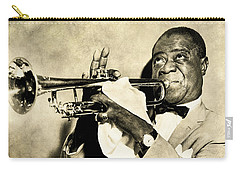 Carry-all Pouch featuring the digital art Louis Satchmo Armstrong by Anthony Murphy