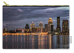 Carry-all Pouch featuring the photograph Louisville At Dusk by Andrea Silies