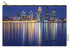 Louisville During Blue Hour Carry-all Pouch by Frozen in Time Fine Art Photography
