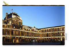 Carry-all Pouch featuring the photograph Louvre At Night 1 by Andrew Fare