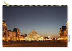 Carry-all Pouch featuring the photograph Louvre At Night 2 by Andrew Fare