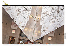 Carry-all Pouch featuring the photograph Louvre Pyramid by Silvia Bruno