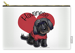 Lovable Black Havanese Carry-all Pouch