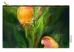 Love Among The Bananas Carry-all Pouch by Carol Cavalaris