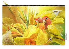 Carry-all Pouch featuring the mixed media Love Among The Orchids by Carol Cavalaris
