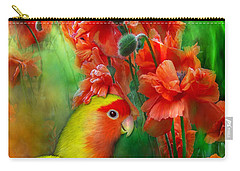 Love Among The Poppies Carry-all Pouch by Carol Cavalaris