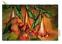 Love Among The Trumpets Carry-all Pouch by Carol Cavalaris