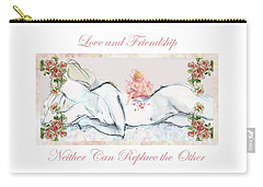 Love And Friendship - Valentine Card Carry-all Pouch