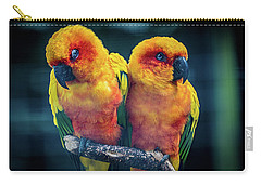 Carry-all Pouch featuring the photograph Love Birds by Chris Lord