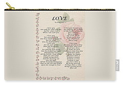 Love By Roy Croft Carry-all Pouch