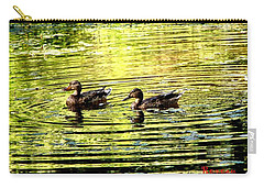 Carry-all Pouch featuring the photograph Love Ducks by Sadie Reneau