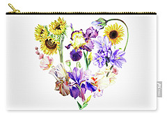 Carry-all Pouch featuring the painting Love Flowers by Irina Sztukowski