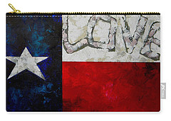 Love For Texas Carry-all Pouch by Patti Schermerhorn