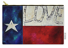 Love For Texas Two Carry-all Pouch by Patti Schermerhorn
