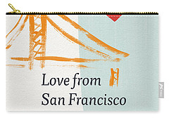 Love From San Francisco- Art By Linda Woods Carry-all Pouch